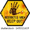 Keep out sign, warning / prohibition sign, vector - stock vector