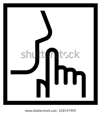Keep silence icon - stock vector