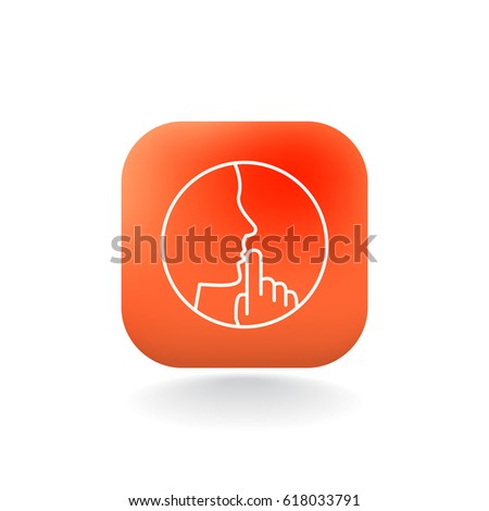 Keep Silence Icon Stock Vector 618033791 Shutterstock