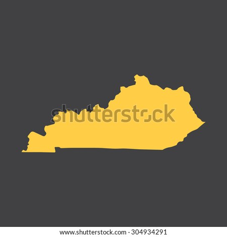 Kentucky state border,map. Vector EPS8 - stock vector