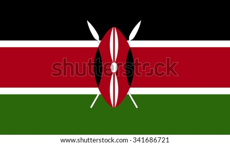 Kenya flag - stock vector