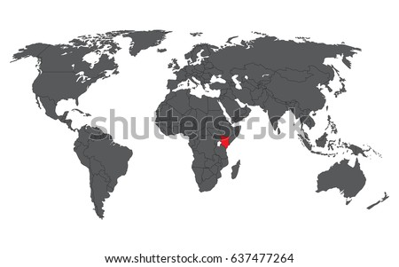 Kenya red on gray world map stock vector hd royalty free 637477264 kenya red on gray world map vector gumiabroncs Image collections