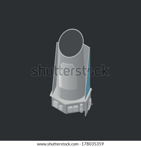 Kepler - space observatory - stock vector