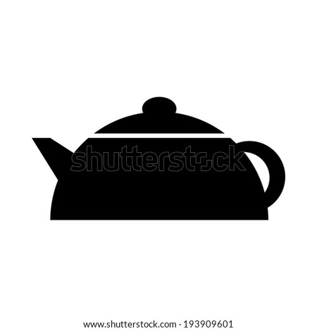 Kettle icon on white background. - stock vector