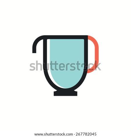 kettle icon.vector illustration. - stock vector