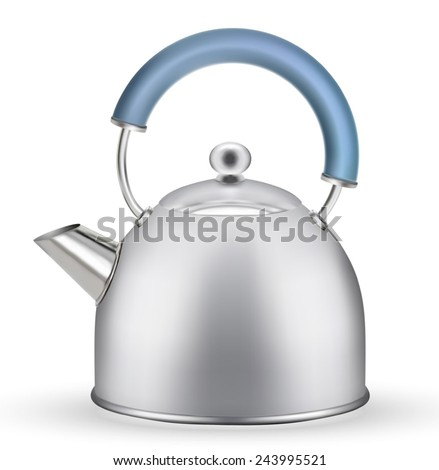 Kettle isolated on white background. EPS-10 - stock vector