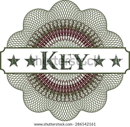 Key abstract rosette - stock vector