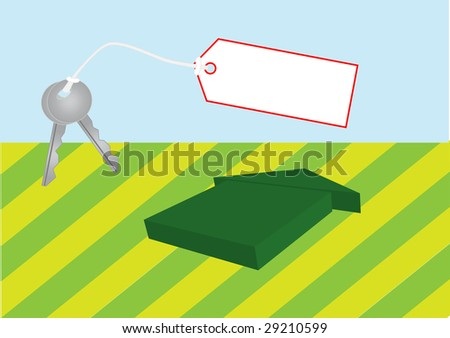 Key and house. Vector - stock vector