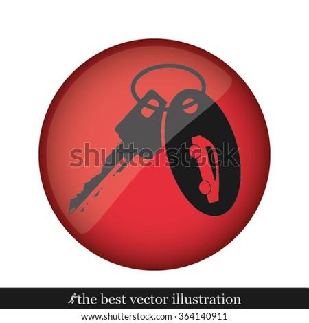 key car - stock vector
