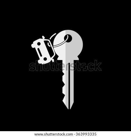 Key car  - vector icon - stock vector