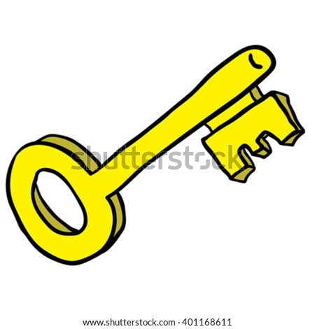 key cartoon - stock vector