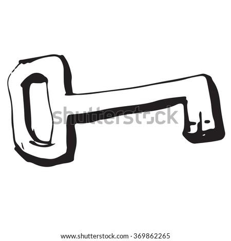 Key doodle - stock vector