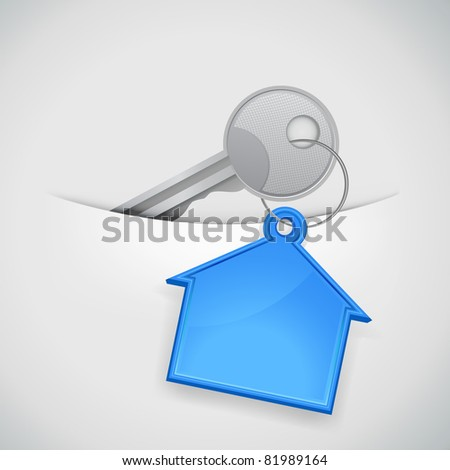 key from the new house in the pocket - stock vector