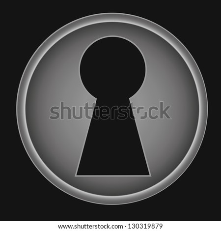 Key hole background vector. Easily put your own photo behind the key hole - stock vector