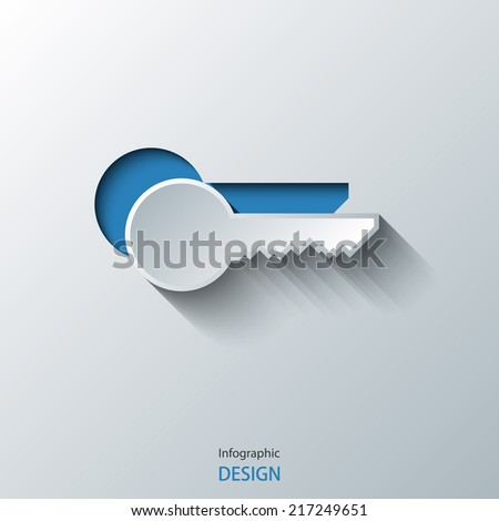 Key icon. Eps10 Vector illustration - stock vector