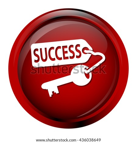 Key icon, Key and success icon - stock vector
