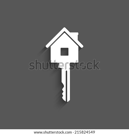 Key icon on a grey background