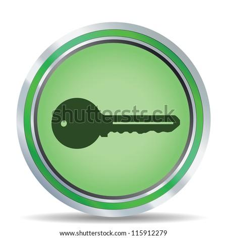Key icon. Vector illustration - stock vector