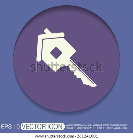 key in the house. real estate icon. home sign - stock vector