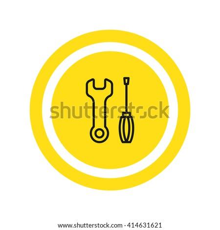 Key screwdriver Icon Vector. Key screwdriver Icon JPEG. Key screwdriver Icon Object. Key screwdriver Icon Picture. Key screwdriver Icon Image. Key screwdriver Icon Graphic. Key screwdriver Icon Art. - stock vector