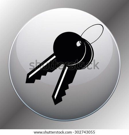 Key - Vector icon isolated. - stock vector