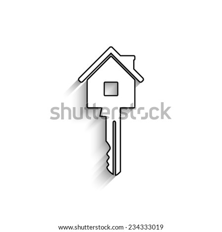 Key  - vector icon with shadow