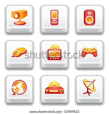 Key with icon 21 - stock vector