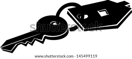 Key with new home - stock vector