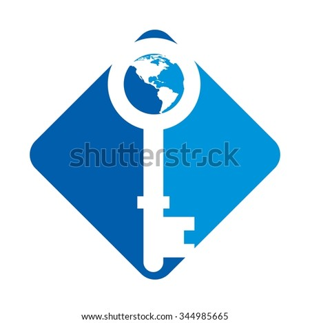 key world logo vector.