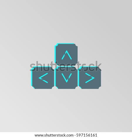 Keyboard Arrows Vector Icon Symbol Squares Stock Vector 597156161