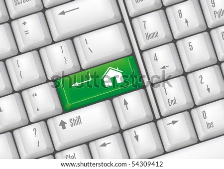 keyboard buttons - download - stock vector