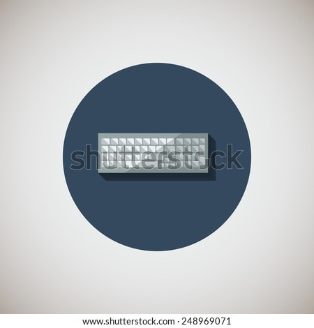 keyboard  flat icon. Flat design style modern vector illustration. Isolated on stylish color background. Flat long shadow icon. Elements in flat design. EPS 10. - stock vector
