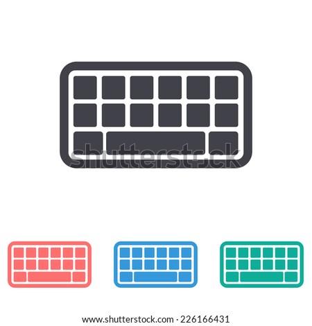 keyboard icon - stock vector