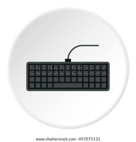 Keyboard icon. Flat illustration of keyboard vector icon for web
