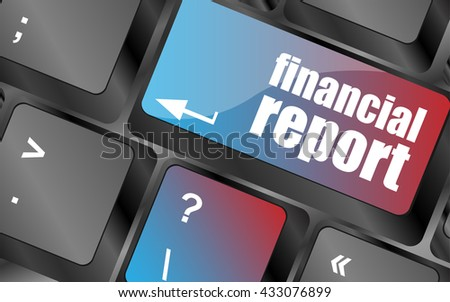 keyboard key with financial report button vector . keyboard keys, keyboard button, keyboard icon - stock vector