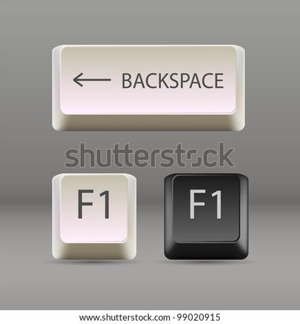 keyboard keys. EPS 10 - stock vector