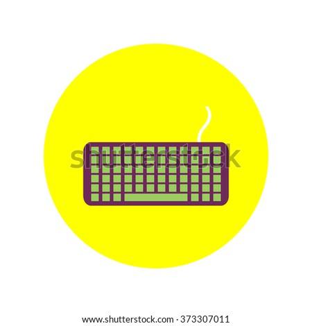 Keyboard vector icon - stock vector