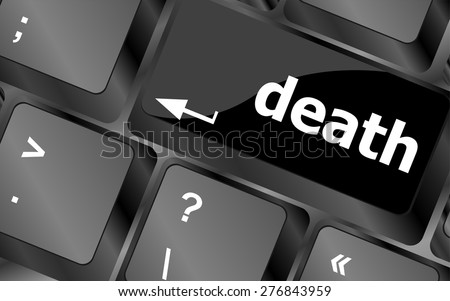 Keyboard with death word button vector - stock vector