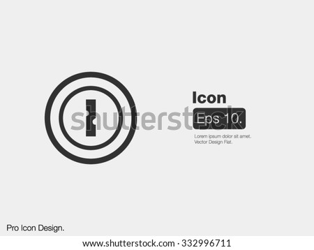 Keyhole Icon / Design Icon / Clipart Icon / Flat Style Icon / Modern Art Icon / Web Icon / Mobile Icon - stock vector