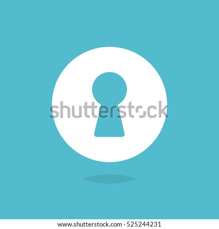 Keyhole icon vector isolated