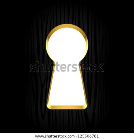 Keyhole. Vector. - stock vector