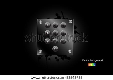 Keypad Vector - stock vector