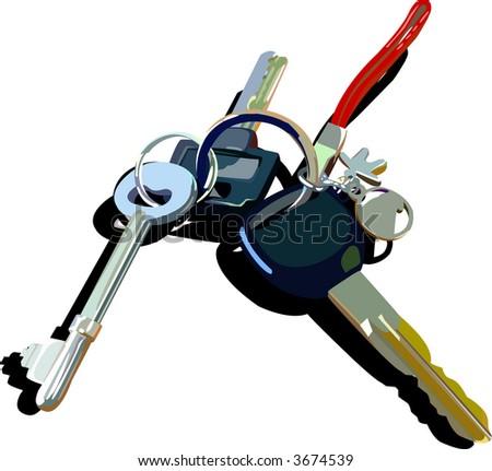 Keys - stock vector
