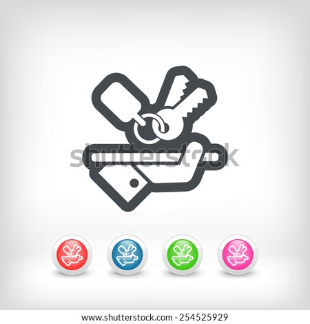 Keys icon - stock vector