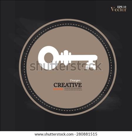 Keys Icon.key icon on chalkboard.vector illustration. - stock vector