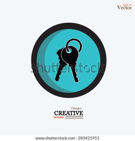 Keys Icon.key.vector illustration. - stock vector