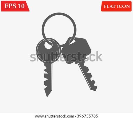 Keys vector icon  - stock vector