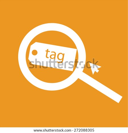 keyword symbol for internet social media social network internet of things web strategy marketing flat design illustration vector - stock vector