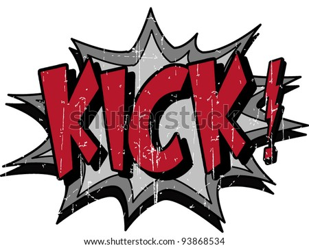 kick - stock vector