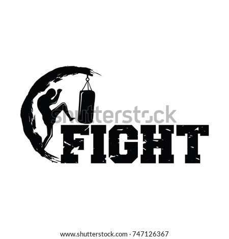 kick boxing martial arts logo vector stock vector 747126367 rh shutterstock com kick boxing logo design kickboxing lagos nigeria